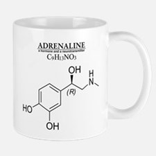 adrenaline: Chemical structure and formula Mugs