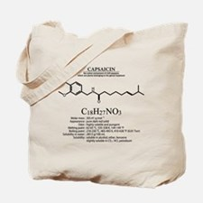 capsaicin: Chemical structure and formula Tote Bag