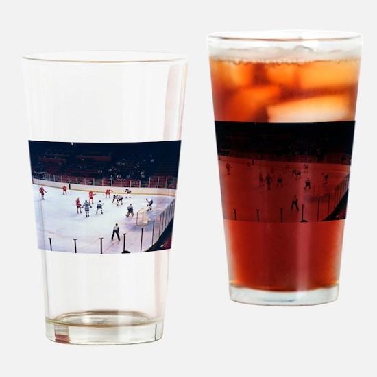 Vintage Ice Hockey Match Drinking Glass