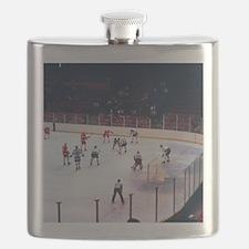 Vintage Ice Hockey Match Flask