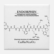 endorphin: Chemical structure and formula Tile Coa