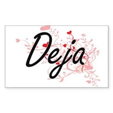 Deja Artistic Name Design with Hearts Decal
