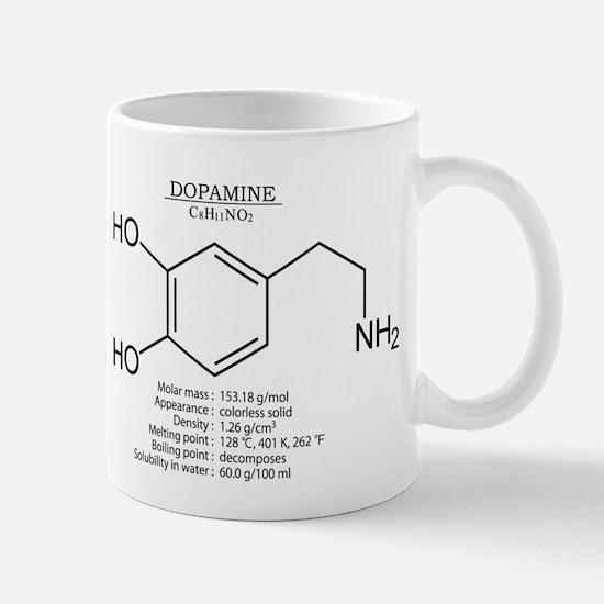 dopamine: Chemical structure and formula Mugs