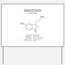 serotonin: Chemical structure and formula Yard Sig