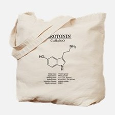 serotonin: Chemical structure and formula Tote Bag