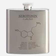 serotonin: Chemical structure and formula Flask