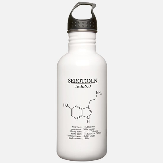 serotonin: Chemical structure and formula Water Bo