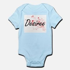 Desiree Artistic Name Design with Hearts Body Suit