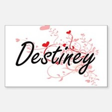 Destiney Artistic Name Design with Hearts Decal