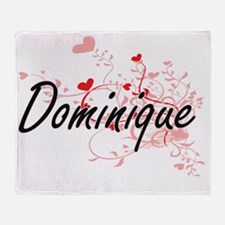 Dominique Artistic Name Design with Throw Blanket