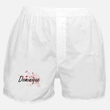 Dominique Artistic Name Design with H Boxer Shorts
