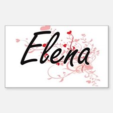Elena Artistic Name Design with Hearts Decal