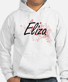 Eliza Artistic Name Design with Hoodie Sweatshirt