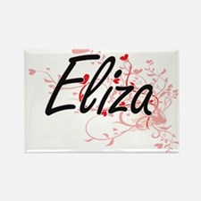 Eliza Artistic Name Design with Hearts Magnets