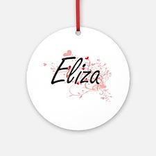 Eliza Artistic Name Design with H Ornament (Round)