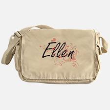 Ellen Artistic Name Design with Hear Messenger Bag