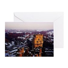 Snowy Warwick Castle Greeting Card