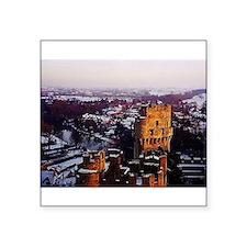 Snowy Warwick Castle Sticker