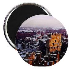 Snowy Warwick Castle Magnets