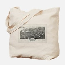 Vintage Pictorial Map of Hyannis MA (1884 Tote Bag