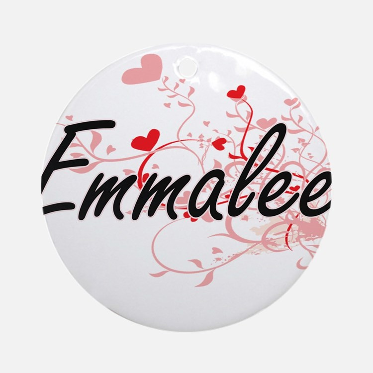 Emmalee Artistic Name Design with Ornament (Round)