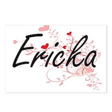 Ericka Artistic Name Desi Postcards (Package of 8)