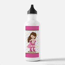 Pink Girl Superhero Pe Water Bottle