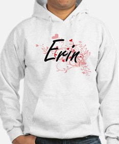 Erin Artistic Name Design with H Hoodie
