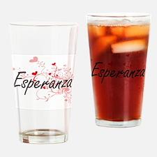 Esperanza Artistic Name Design with Drinking Glass