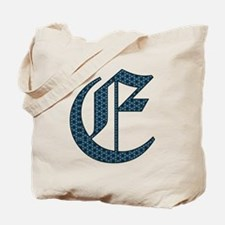E monogram old english Tote Bag