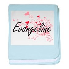 Evangeline Artistic Name Design with baby blanket