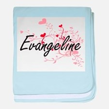 Evangeline Artistic Name Design with baby blanket