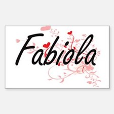 Fabiola Artistic Name Design with Hearts Decal