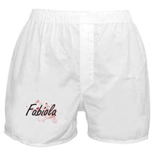 Fabiola Artistic Name Design with Hea Boxer Shorts