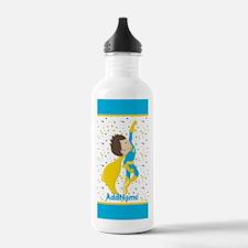 Teal Yellow Boy Superh Water Bottle