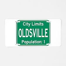 Oldsville City Limits Aluminum License Plate