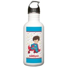 Red and Blue Boy Super Water Bottle
