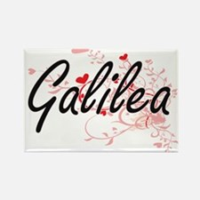 Galilea Artistic Name Design with Hearts Magnets