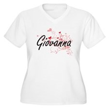 Giovanna Artistic Name Design wi Plus Size T-Shirt
