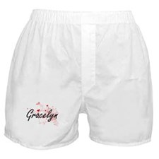 Gracelyn Artistic Name Design with He Boxer Shorts