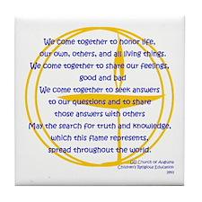 We_Come_Together Tile Coaster