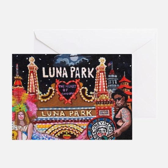Luna Park Coney Island, New York  Greeting Card