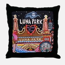 Luna Park Coney Island, New York  Throw Pillow