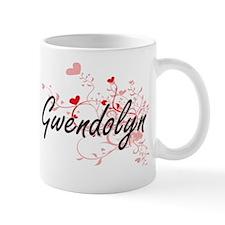 Gwendolyn Artistic Name Design with Hea Mug