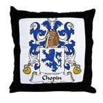 Chopin Family Crest  Throw Pillow