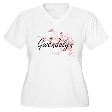 Gwendolyn Artistic Name Design w Plus Size T-Shirt