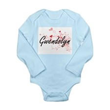 Gwendolyn Artistic Name Design with Hear Body Suit