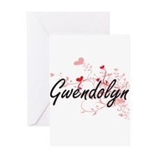 Gwendolyn Artistic Name Design with Greeting Cards