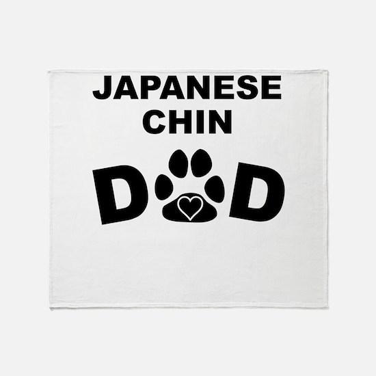 Japanese Chin Dad Throw Blanket