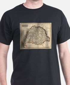 Vintage Map of Hungary (1817) T-Shirt